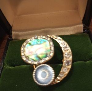 Large abalone ring